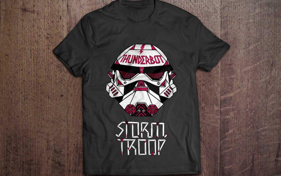 Estampado textil Storm Troop + Thunderbot