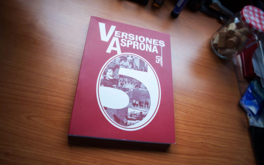 Versiones Asprona .50 (Cubierta del libro)